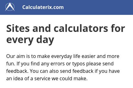 Calculaterix.com